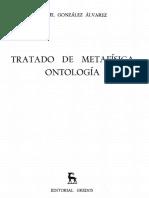 Gonzalez Alvarez Angel - Tratado de Metafisica - Ontologia
