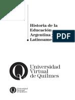 Historia de La Educación Argentina y Latinoamericana