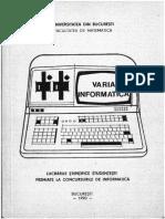 Lucrari Stiintifice Premiate la INFO-IASI, 1990