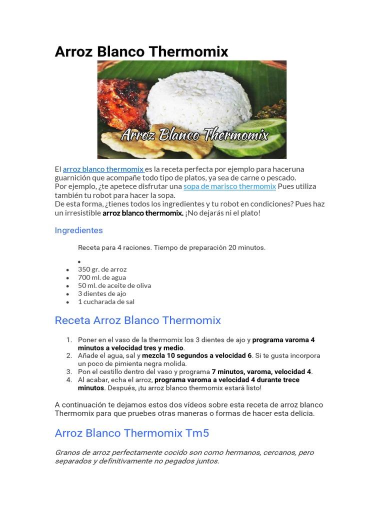 Receta Arroz Blanco Thermomix Arroz Sopa