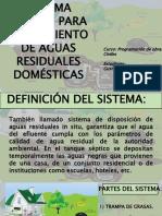 SISTEMA SÉPTICO PARA TRATAMIENTO DE AGUAS RESIDUALES DOMÉSTICAS