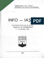 Colocviu de Informatica INFO-IASI 1981-1989