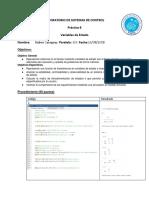Practica variables de estado Sistemas de Control