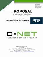 D-NET Proposal Internet Access Dedicated Line Service 2010 (Wisnu Utomo)