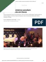 Bolsonaro e Ministros Cancelam Pronunciamento Em Davos _ Política _ G1