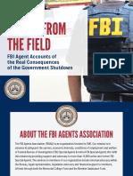 FBIAA FBI Agents Association Report on Government Shutdown