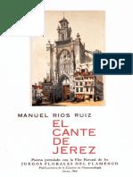El Cante de Jerez-manuel Rios Ruiz-1968-Edicion Conmemorativa
