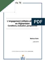 L'engagement militaire allemand en Afghanistan