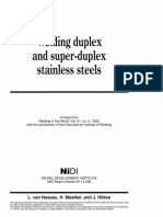 NIDI Welding Duplex and Super Duplex SS