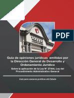 Guía de Opiniones jurídicas sobre La Aplicación de La 27444