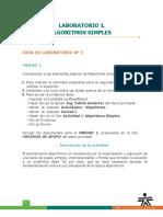Laboratorio 1 - Algoritmos Simples