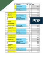 HMM Schedule