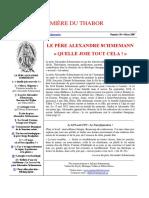 Bulletin Lumiere du Thabor, no. 30 (mars 2007)