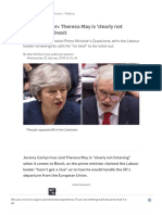 Jeremy Corbyn_ Theresa May is 'Clearly Not Listening' on Brexit _ Politics News _ Sky News