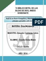 Perfil Del Pastor, Evangelista y Maestro