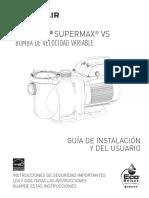 SuperMax vs Variable Speed Manual for Model 343001 Spanish