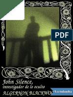 John Silence Investigador de Lo Oculto - Algernon Blackwood