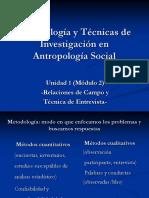 Unidad 1 (Módulo 2) Metodología y Técnicas de Investigación en Antropología Social.ppt