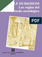 DURKHEIM-Las Reglas Del Método Sociológic