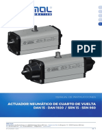 Actuadores Neumáticos - Doble Efecto DAN en Aluminio (New Version) - DAN15 - DAN1920 - SRN15 - SRN960 - UMAAPG00