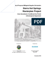 Draft study on Sierra Hot Springs project