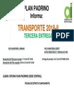 3ra Entrega de Trasporte 2018-2