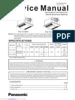 Panasonic Bathroom Fan Heater Combo Service Manual