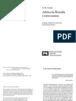 Adiós a la filosofía y otros textos - E.M. Cioran