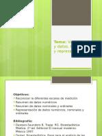 Variables y Datos. Resumen y Representación