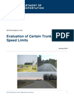 2018 Speed Limit Report-final Year Report