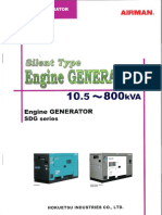 Airman Generator specs