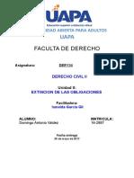 Tarea Extinción de Las Obligaciones DER134