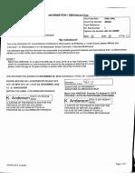 Informations sheet