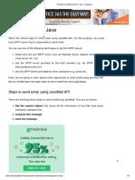 Email Sending Java
