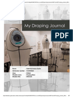 My Draping Journal