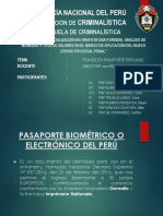 Pasaporte Biometrico Peruano