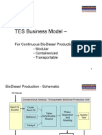 TES Business Model- BioDiesel Plants