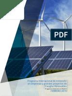 Programa Internacional Inmersion en Empresas Grandes Proyectos de Energias Renovables