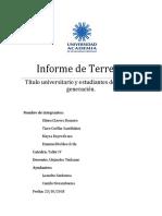 Informe de Terreno Taller IV