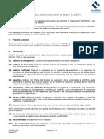 Reglamento de La Certificación Sistemas de Gestion