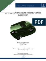 Development of an Auto Rickshaw Suspension System