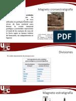 Magneto Cronoestratigrafía, Magnetoestratigrafia y Quimioestratigrafia
