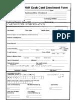 LandBank - Cash Card Form