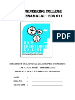 EE Lab Manual for III Mech R2013