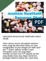 Analisis Kualitatif Senyawa Obat
