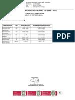 Certificado de Malla Electro Soldada