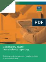 mass balance reporting