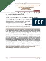 Resistance of Kenyan wheat germplasm to Fusarium head blight and deoxynivalenol contamination