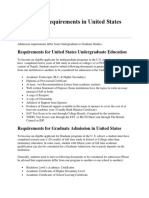 Admission Requirements in United States