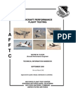 Aircraft Performance Flight Testing